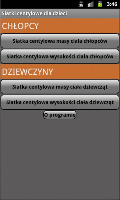 Siatki centylowe dzieci- screenshot