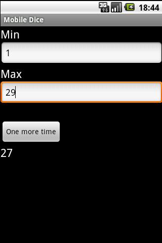 Mobile Dice Plus- screenshot