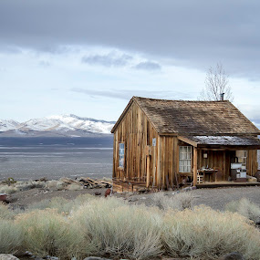 by M Knight - Buildings & Architecture Public & Historical ( cabin, winter, nevada, state park, historic district, western )