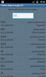 Tablice Rejestracyjne PL- screenshot thumbnail