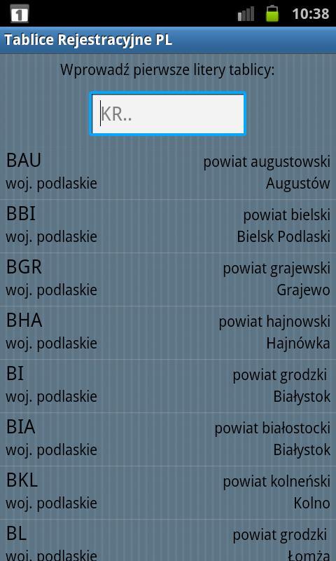 Tablice Rejestracyjne PL- screenshot