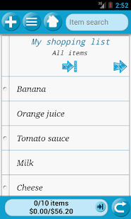 QuickGrocery Shopping List - screenshot thumbnail