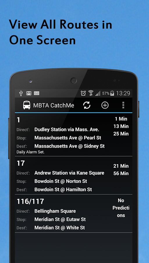MBTA Catche Me (Maps & Alerts) - screenshot