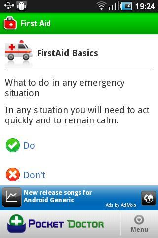 Pocket First Aid Pro- screenshot