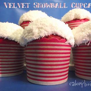 Red Velvet Snowball Cupcakes