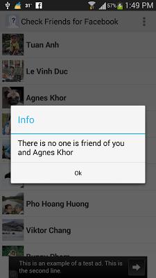 Check Friends for Facebook - screenshot