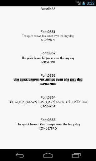 Fonts for FlipFont 85