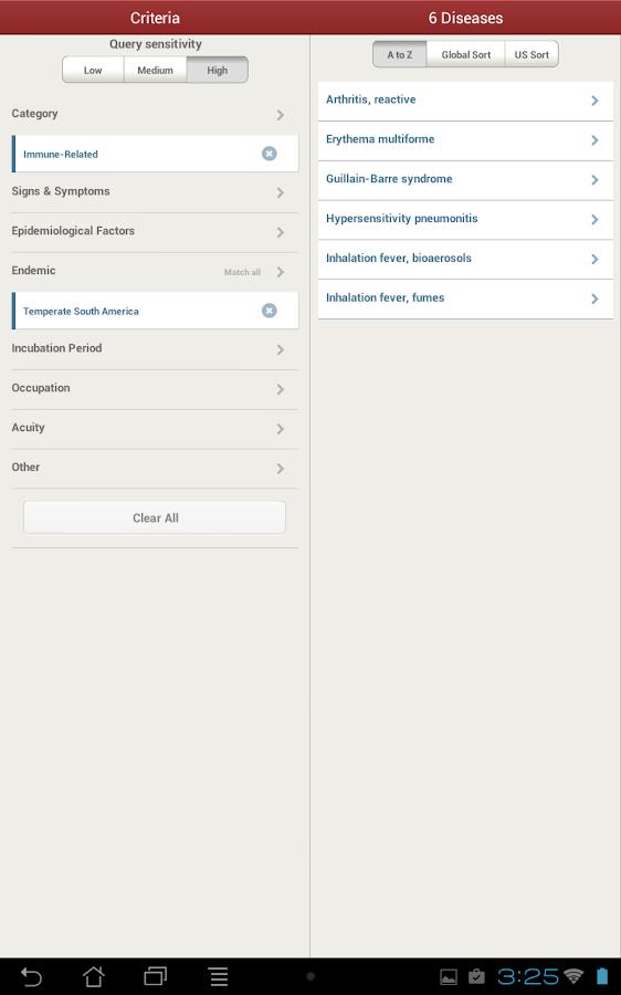 IDdx: Infectious Diseases - screenshot