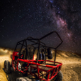 MY RIDE AT NIGHT  by Chase Alog - Landscapes Starscapes