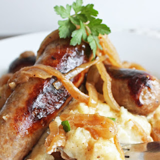 Bangers and Mash (Low Carb and Gluten Free).