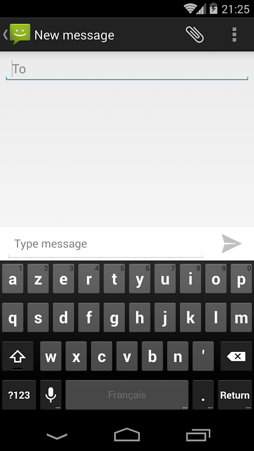SMS Messaging (AOSP)- screenshot