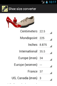 Shoe size converter screenshot 0