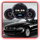 Ford Mustang Shelby Clock LWP