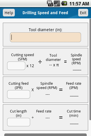 Drilling Speed and Feed Calc
