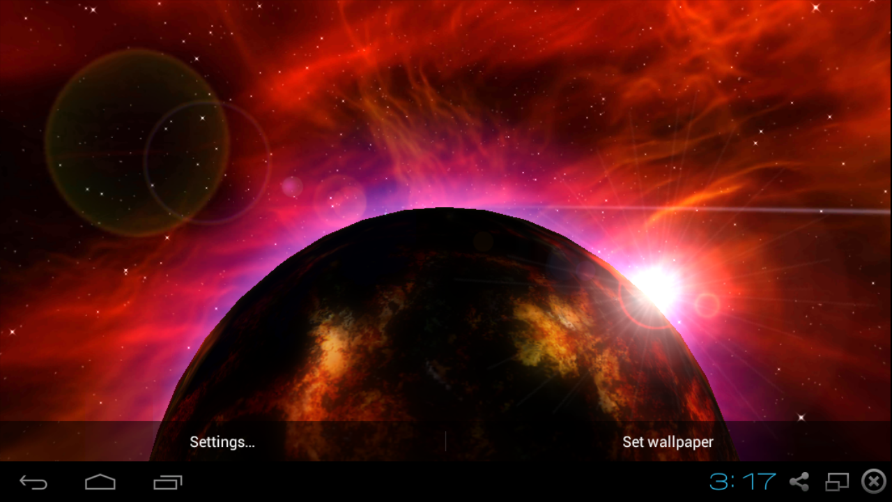 Planet Fire 3D Live Wallpaper - Android Apps on Google Play