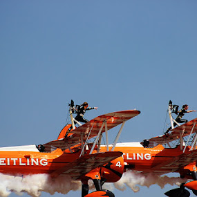 Dancing Starts - Breitling by Guru Prasad - Transportation Airplanes ( flight, dancing, guru prasad, breitling, airshow, air show,  )