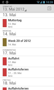Holidaycalendar.ch Screenshot 3