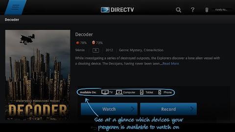 DIRECTV for Tablets Screenshot 12