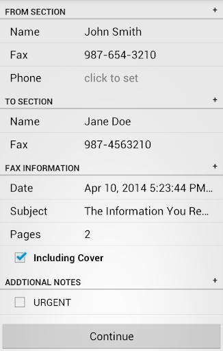 FaxCover Pro Create Cover Page Business app for Android Preview 1