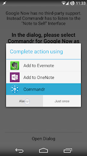 Commandr for Google Now- screenshot thumbnail