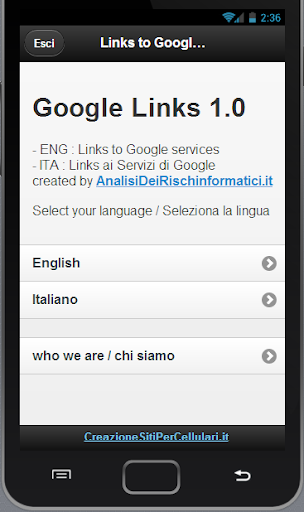 Google Links ai Servizi Google