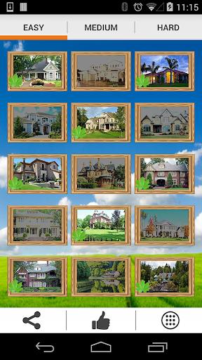 家のタイルパズルを夢見る
