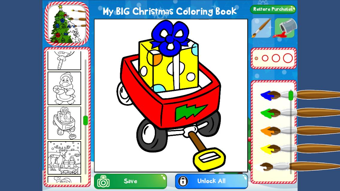 My Big Christmas Coloring Book Screenshot