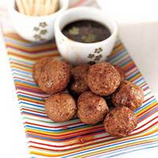Asian Meatballs with Spicy Lime Dipping Sauce.