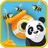 Panda and Bees - Free Qilox