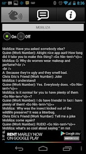 Mobliza Text Answering Machine- screenshot thumbnail