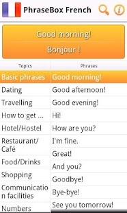 Phrasebook French- screenshot thumbnail