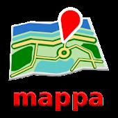 Frankfurt Offline mappa Map