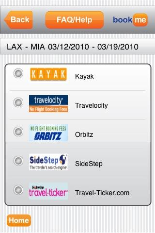 BookMe Travel Search - screenshot