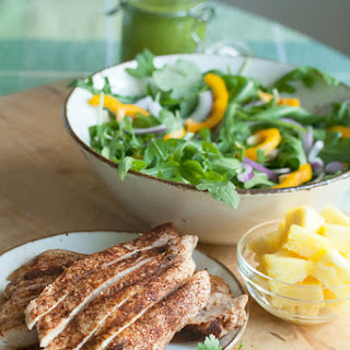 Grilled Chicken Salad with Spicy Pineapple Dressing.