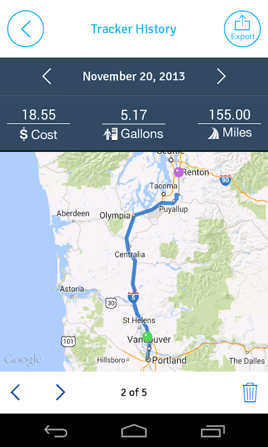 EasyBiz - GPS Mileage Tracker - screenshot