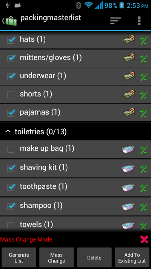 Packing List - Full- screenshot