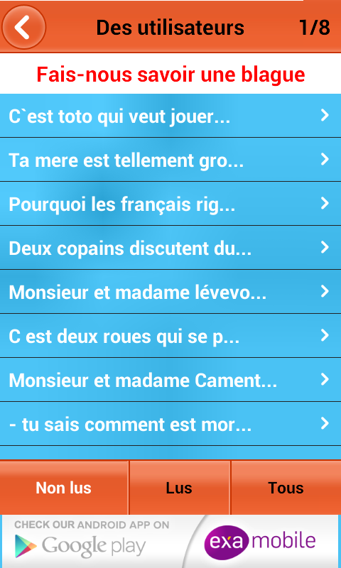 Blagues et Plaisanteries- screenshot