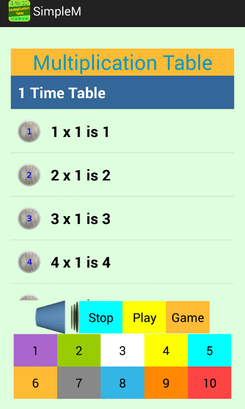 Multiplication table 1 10 android apps on google play for 85 times table