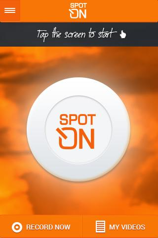 SpotOn video tracker - screenshot