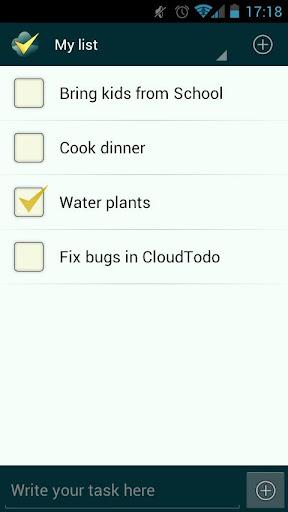 CloudTodo Simple ToDo list