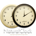 ナチュラルなアナログ時計ウィジェット【モノトーン】 icon