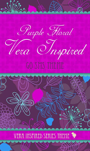 Purple Floral Theme GO SMS