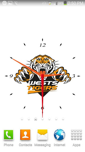 West Tigers Analog Clock