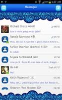 Screenshot of GO SMS - Blue Glitter 2