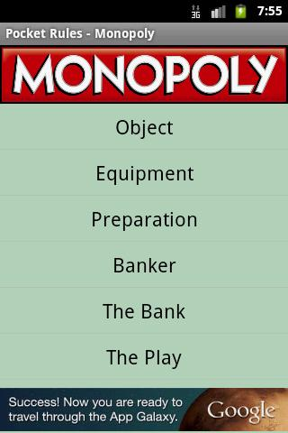 Pocket Rules - Monopoly - screenshot