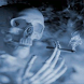 Smoking Skeleton  Skull   Wall