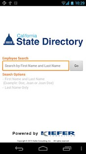 CA State Directory- screenshot thumbnail