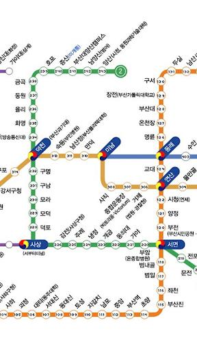 부산 지하철 노선도