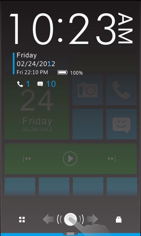 Color box Plus GO Locker Theme - screenshot