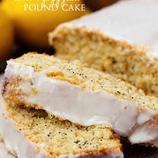 Healthy Greek Yogurt Lemon Poppyseed Pound Cake.